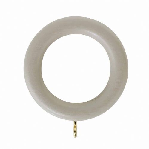 Rolls Honister 35mm Wooden Curtain Rings (Pack of 4) - Cafe Latte